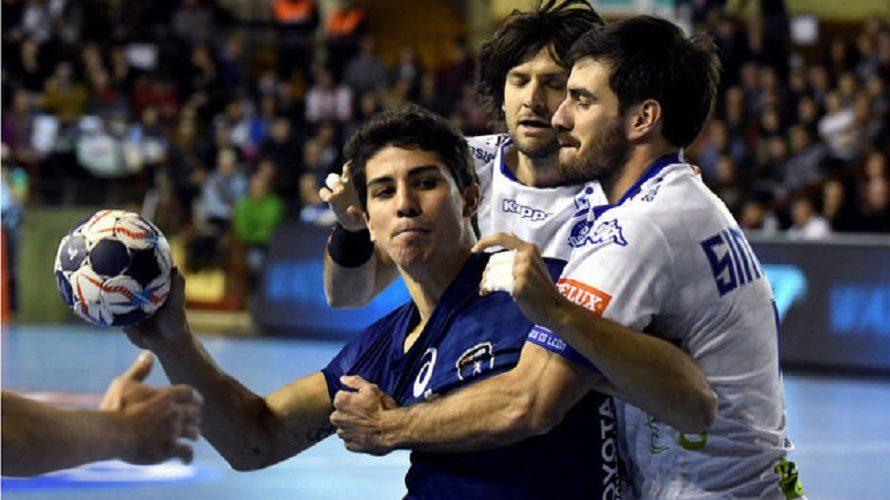 Champions League: El Montpellier de Diego Simonet se quedó con el primer duelo ante el Ademar de Seba Simonet, Carou y Vieyra
