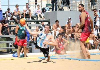 Suerte dispar para Argentina en el inicio del Mundial Adulto de Beach Handball Kazán 2018