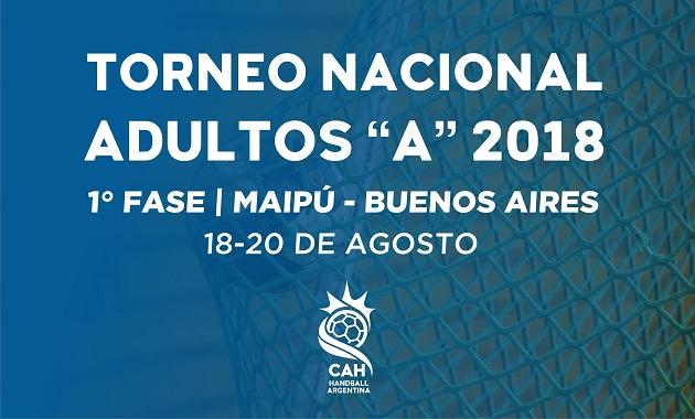"""Nacional de Clubes Adultos """"A"""" / 1° Fase – Maipú y Buenos Aires 2018   Torneo"""