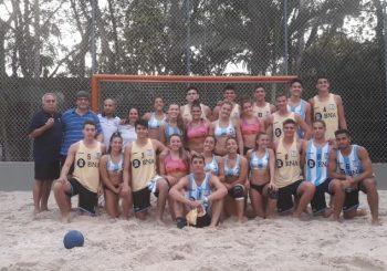 Las selecciones juveniles de beach realizaron una exitosa gira por Brasil