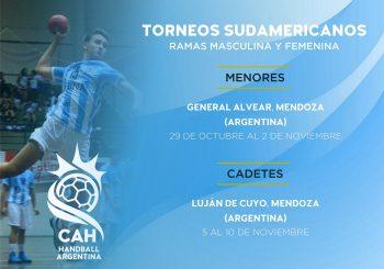 Mendoza será anfitriona de los Sudamericanos de Menores y Cadetes