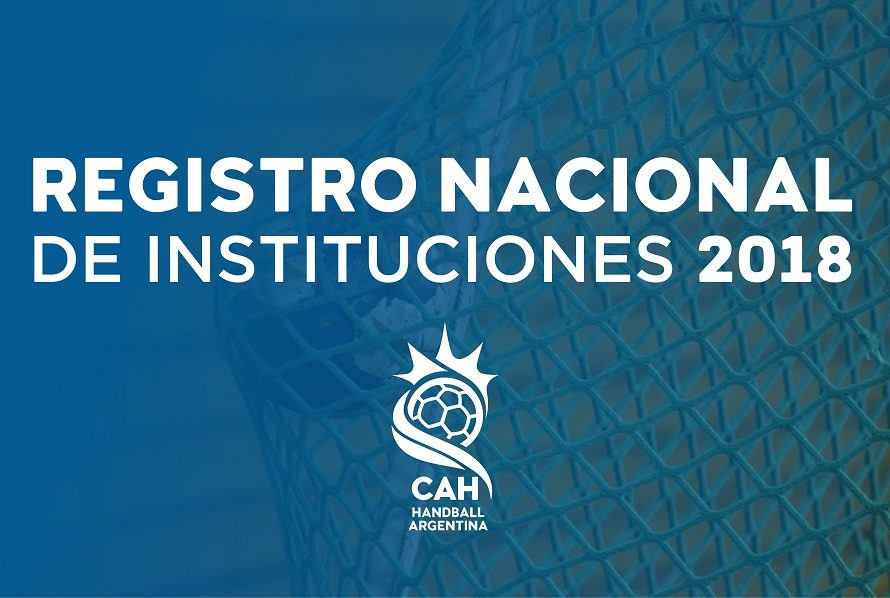 Registro Nacional de Instituciones 2018